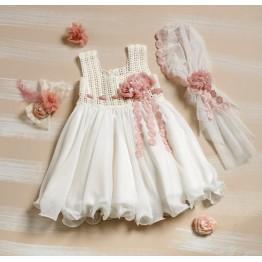 Bellissimo φόρεμα πλεκτό λευκό  ΡΟΥΧΑ