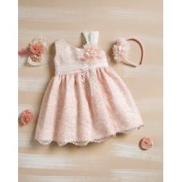 Bellissimo φόρεμα σομον δαντέλα  ΡΟΥΧΑ