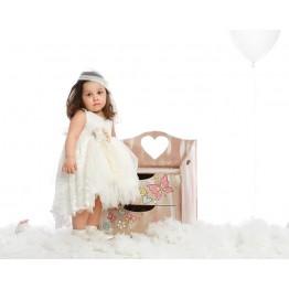 Bellissimo φόρεμα με μπέζ με δαντέλα  ΡΟΥΧΑ