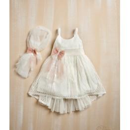 Bellissimo φόρεμα μπέζ με gliter ΡΟΥΧΑ