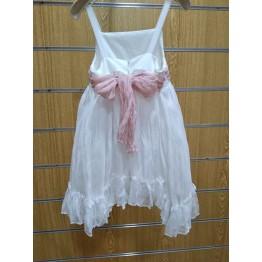 802fda0f090 Vanessa Cardui Φόρεμα Μπροντερί Λευκό - Ρόζ ΡΟΥΧΑ