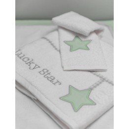 Baby Oliver Lucky Star mint Πετσέτες σετ 2 τεμαχίων Des. 304