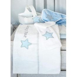 Baby Oliver Lucky Star Blue Πετσέτες σετ 2 τεμαχίων des.309