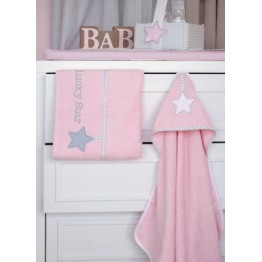 Baby Oliver Lucky Star Pink Πετσέτες σετ 2 τεμαχίων des.308