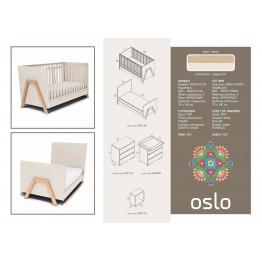 Kρεβάτι Oslo φυσικό-εκρού ΚΡΕΒΑΤΙ