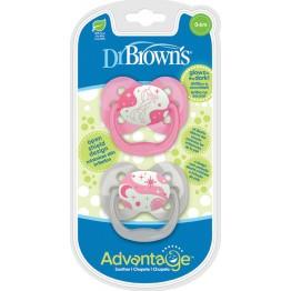 Dr. Brown's Advantage Night Σιλικόνης Pink Star 0-6m 2τμχ  ΠΙΠΙΛΕΣ - ΑΞΕΣΟΥΑΡ ΠΙΠΙΛΑΣ