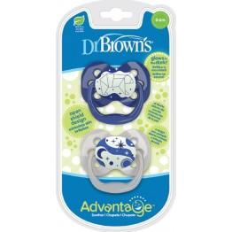 Dr. Brown's Advantage Night Σιλικόνης Blue Bear 0-6m 2τμχ  ΠΙΠΙΛΕΣ - ΑΞΕΣΟΥΑΡ ΠΙΠΙΛΑΣ