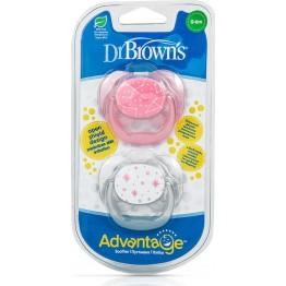 Dr. Brown's Advantage Σιλικόνης Pink/Grey 0-6m 2τμχ ΠΙΠΙΛΕΣ - ΑΞΕΣΟΥΑΡ ΠΙΠΙΛΑΣ