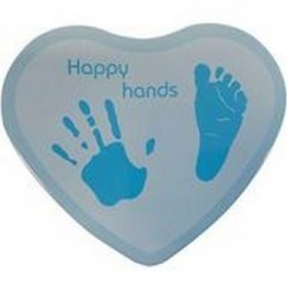 Just Baby Dooky Happy Hands Αναμνηστικό Αποτύπωμα Shape Blue BABY ART