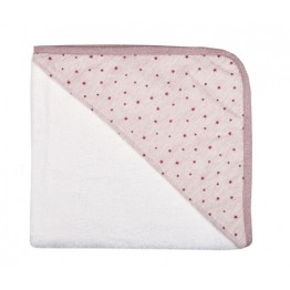 Μπουρνούζι τριγωνάκι Pink star  σχέδιο 54 ΒΡΕΦΙΚΑ ΜΠΟΥΡΝΟΥΖΙΑ